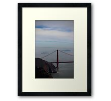 Alcatraz in the distance Framed Print