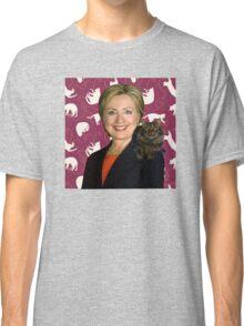 Hillary Clinton Loves Cats Classic T-Shirt