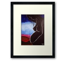 Pregnant or waiting light. Framed Print
