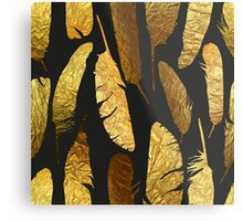 - Golden feathers - Metal Print