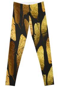 - Golden feathers - Leggings