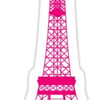 Hot Pink Eiffel Tower Sticker
