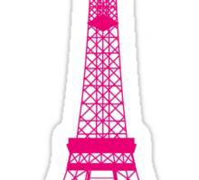 Hot Pink Eiffel Tower Sticker