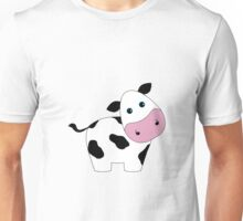 Cute Black and White Cow Unisex T-Shirt