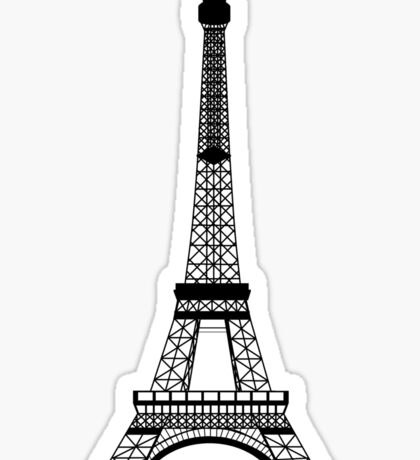 Black Eiffel Tower Sticker