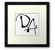 D.A. Framed Print