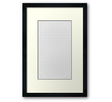 basic aesthetic grid - black and white Framed Print