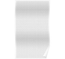 basic aesthetic grid - black and white Poster