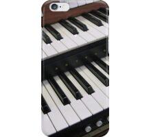 Rows of Keys - Section of Organ Keyboard iPhone Case/Skin