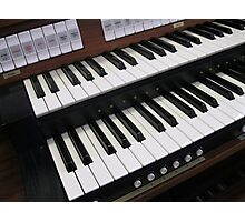 Rows of Keys - Section of Organ Keyboard Photographic Print