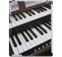 Rows of Keys - Section of Organ Keyboard iPad Case/Skin