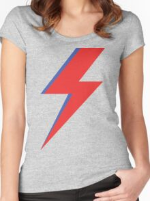 Aladdin Sane - Lightning bolt Women's Fitted Scoop T-Shirt
