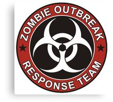 Zombie Outbreak Response Team Canvas Print