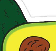 eat my pits. (avocado) <white text> Sticker
