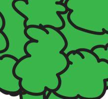 eat me. (broccoli) <white text> Sticker