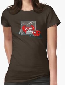 Muscle car Womens Fitted T-Shirt