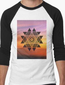 Geometric sun Men's Baseball ¾ T-Shirt