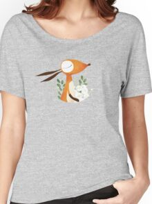 Fox and White Rose Women's Relaxed Fit T-Shirt