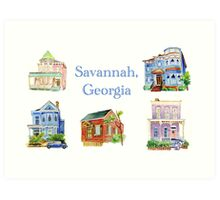 Savannah, Georgia Art Print