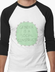 Gender Is A Social Construct Men's Baseball ¾ T-Shirt