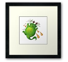 Dragon ball fun Framed Print