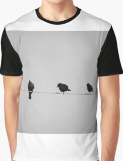 Birds on Wire  Graphic T-Shirt