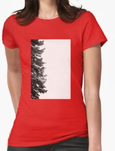 Snow Tree  Womens Fitted T-Shirt