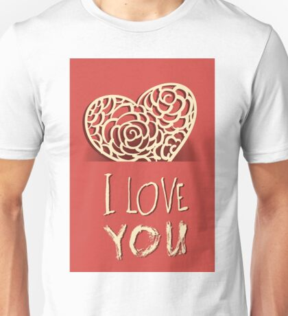 Valentines day card vector background Unisex T-Shirt