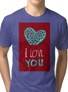 Valentines day card vector background Tri-blend T-Shirt