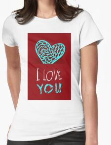 Valentines day card vector background Womens Fitted T-Shirt