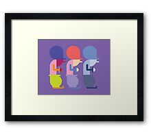 Three Silly Men Framed Print