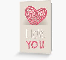 Valentines day card vector background Greeting Card