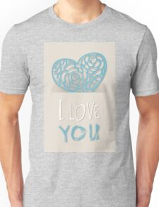 Heart from paper Valentines day card vector background Unisex T-Shirt