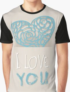 Heart from paper Valentines day card vector background Graphic T-Shirt