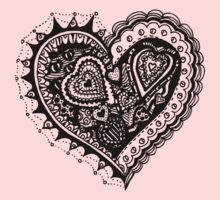 Valentine Heart 2 Aussie Tangle Alternate Vertical Image One Piece - Long Sleeve