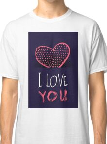 Valentines day card vector background Classic T-Shirt
