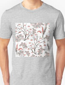 Endless floral background. apples berries branch seamless ornament T-Shirt
