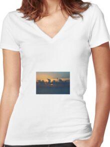 Over the Atlantic Women's Fitted V-Neck T-Shirt