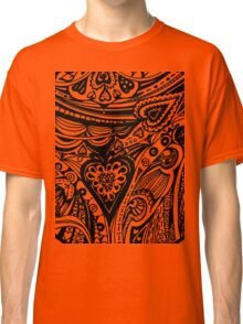 Circle Valentine Hearts 1 Aussie Tangle Alternate Options Classic T-Shirt