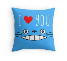 Totoro - I love you Throw Pillow