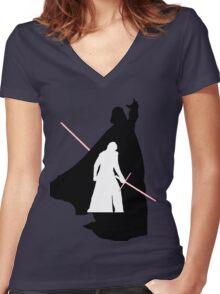 Darth Vader / Kylo Ren Women's Fitted V-Neck T-Shirt