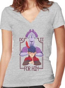 Do It for Him Women's Fitted V-Neck T-Shirt