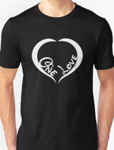 One Love Heart Shaped T-Shirt