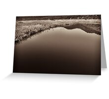 moody water landscape Greeting Card