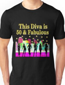 50 AND FABULOUS NYC BIRTHDAY DESIGN Unisex T-Shirt