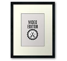 Video Editor Framed Print