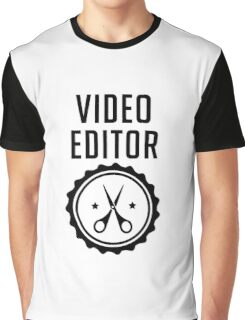 Video Editor Graphic T-Shirt
