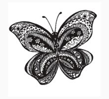 Butterfly Aussie Tangle Black & White  One Piece - Short Sleeve