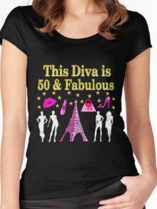 FABULOUS 50TH PARIS DESIGN Women's Fitted Scoop T-Shirt