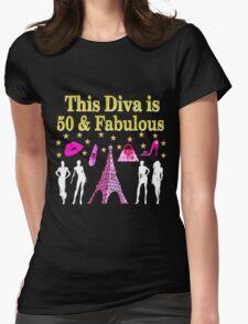 FABULOUS 50TH PARIS DESIGN Womens Fitted T-Shirt